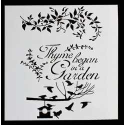 Reusable Stencil - Thyme Began in a Garden (1pc)