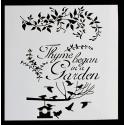 Reusable Stencil - Thyme Began in a Garden (1pc)