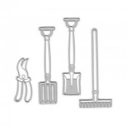 Printable Heaven dies - Garden Tools (4pcs)