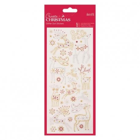 Glitter Dot Stickers - Reindeers (PMA 818927)