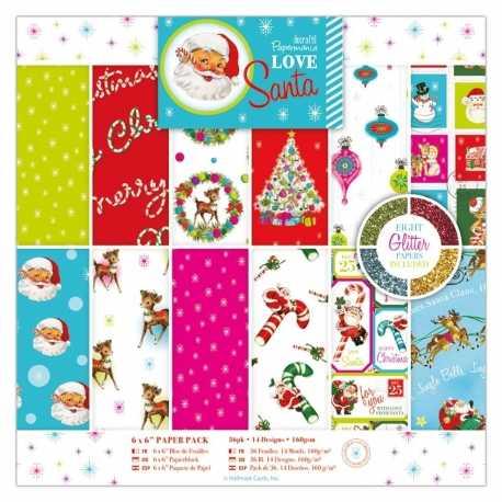 6 x 6 Paper Pack (36pk) - Love Santa (PMA 160953)