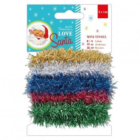 1m Mini Tinsel (5pcs) - Love Santa (PMA 356943)