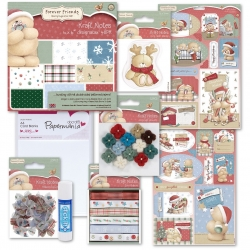 Forever Friends Christmas Kraft Notes Collection (DOB 00005)