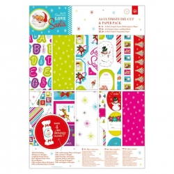 A4 Ultimate Die-cut & Paper Pack (48pk) - Love Santa (PMA 160954)