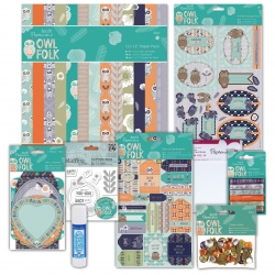 Owl Folk Papercrafting Kit (DOB 00016)