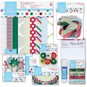 Spots & Stripes Festive Papercrafting Kit (DOB 00015)