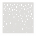 Medium Reusable Stencil - Raindrops (1pc)