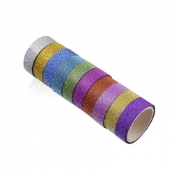 Glitter Tape, Plain (10 pack)