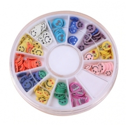Polymer Clay Confetti - Smiley Faces