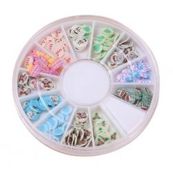 Polymer Clay Confetti Wheel - Christmas