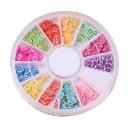 Polymer Clay Confetti Wheel - Flowers