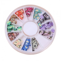 Polymer Clay Confetti Wheel - Animals