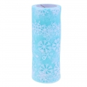 Tulle Roll with Snowflakes - Blue (15cm x 10 yards)