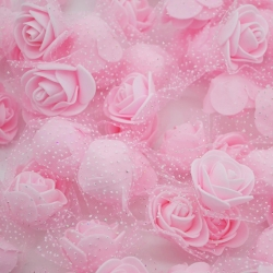 Stemless Foam Rose-heads - Pale Pink (50pcs)