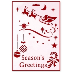 Large Plastic Stencil - Season's Greetings (1pc)