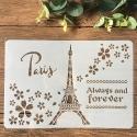 Large Plastic Stencil - Paris/Eiffel Tower (1pc)