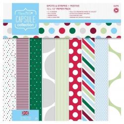 "Festive Spots & Stripes 12"" x 12"" paper pad, 32 sheets (PMA 160209)"