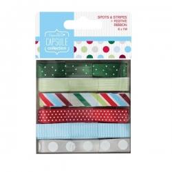 Festive Spots & Stripes Ribbon, 6 x 1m (PMA 367108)
