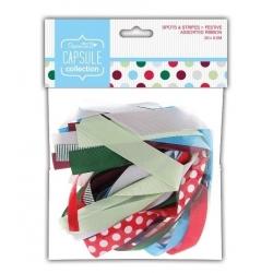 Festive Spots & Stripes Assorted Ribbon Bag (PMA 367502)