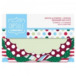 Festive Spots & Stripes Designer die-cuts (PMA 157307)