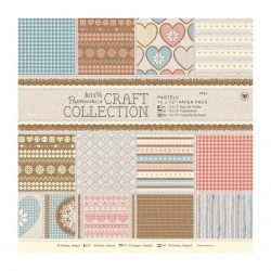 """Craft Collection Pastels 12 x 12"""" Paper pack (PMA 160186)"""