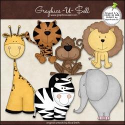 Download - Clip Art - Zoo Animals