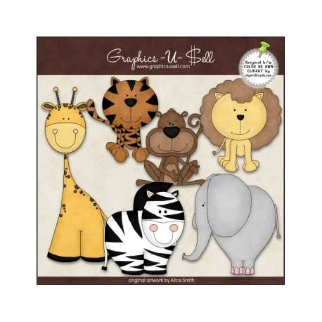 Download - Clip Art - Zoo Animals