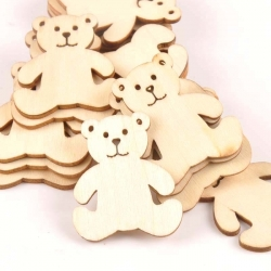 Wooden Teddies (10pcs)