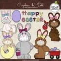 Download - Clip Art - Easter Bunnies
