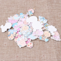 Wooden Baby Mix Pink & Blue (20pcs)