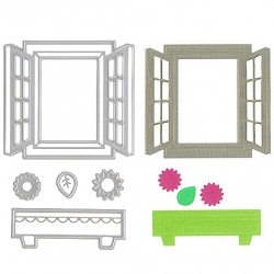 Printable Heaven die - Window & Window-box (5pcs)
