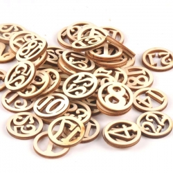 Wooden Circular Numbers (25pcs)