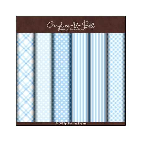Download - Baby Blue Backing Papers