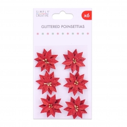 Simply Creative Basics Glittered Poinsettias (SCFLW010X19)