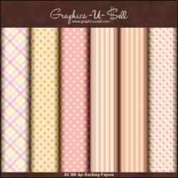 Download - Pink and Yellow Backing Papers