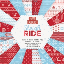 Paper Addicts Sleigh Ride 10cmx10cm Paper Pad (PAPAD069X19)