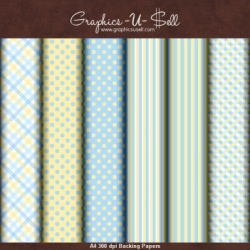 Download - Blue and Yellow Backing Papers