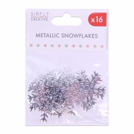 Simply Creative Basics Metallic Silver Snowflakes (SCTOP051X19)