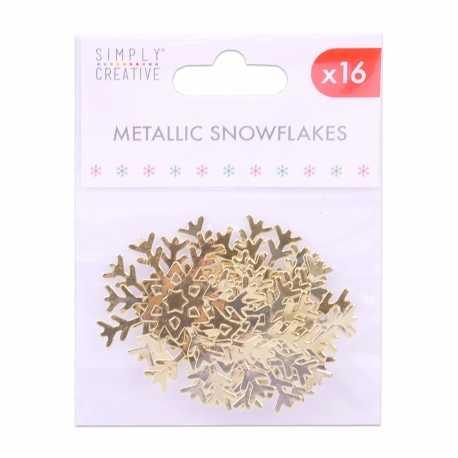 Simply Creative Basics Metallic Gold Snowflakes (SCTOP050X19)
