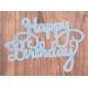 Large Die-Cut Happy Birthday - Glitter card Blue (2pcs)