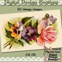 Download - 50 Vintage Floral Images 1