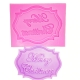 Small Silicone Mould - Merry Christmas Label