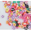 Polymer Clay Confetti Bag - Smiley Faces