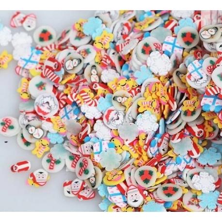 Polymer Clay Confetti Bag - Christmas