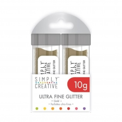 Simply Creative Glitter Pots - Gold (SCGLP001)