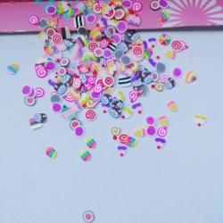 Polymer Clay Confetti Bag - Cake