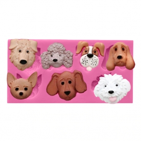 Small Silicone Mould - Dogs