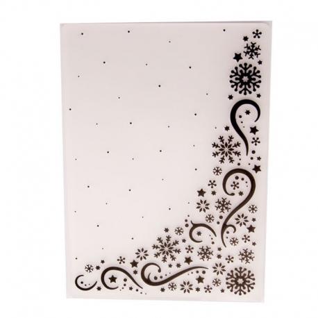 A6 Embossing folder - Snowflake Corner