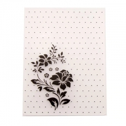 A6 Embossing folder - Polka Dot Rose