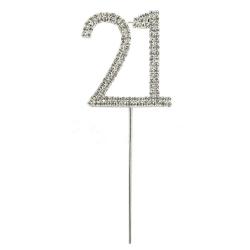 Diamante Number Pick - 21 (1pc)